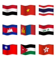 Waving flags of different countries 4 vector image vector image