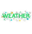 Weather Concept with icons and elements vector image
