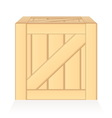 wood box isolated vector image vector image