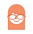 young woman profile happy character image vector image vector image