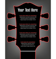 Headstock Guitar Poster vector image