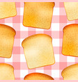 bright tasty toasts breakfast seamless pattern vector image