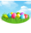 magic eggs outdoor composition vector image