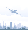 Airplane and Cityscape vector image vector image