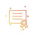award diploma icon design vector image
