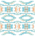 Aztec tribal seamless sky blue pattern vector image