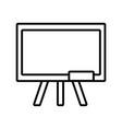 back to school education chalkboard equipment vector image vector image