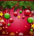 background design with ornaments and tree vector image