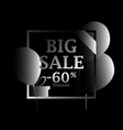 black friday big sale poster with black balloons vector image vector image