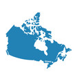 blank similar canada map isolated on white backgro vector image vector image