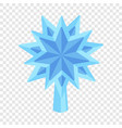 blue star fir tree icon flat style vector image vector image