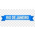 blue tape with rio de janeiro title vector image