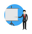 business presentation cartoon graphic symbol vector image