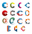 c letter icon for business corporate identity vector image