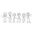 cartoon crowd six business women vector image