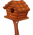 Cartoon of bird house vector image