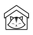 Cat clossed eyes feline house pet outline