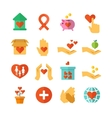 Charity social help money donate nonprofit vector image