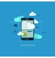 Cloud services vision flat web infographic vector image vector image