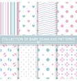 Collection of baby seamless patterns vector image vector image
