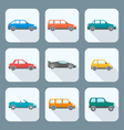 colored flat style various body types of cars vector image vector image