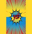 comic duel explosive concept vector image vector image