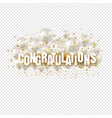 congratulations card and transparent balloons vector image vector image