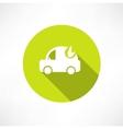 eco car icon vector image vector image