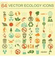 Environment ecology icon set Environmental risks vector image vector image