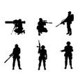 equipped military with weapons vector image