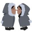 eskimo couple vector image vector image