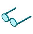 eyeglasses icon isometric style vector image vector image