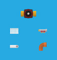 flat icon plumbing set of pipework iron drain vector image vector image