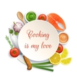 Flat Lay Cooking Circle Composition vector image vector image
