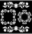 floral decorations ornamental frames and dividers vector image vector image