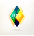 Geometric logo in Brazil color concept vector image vector image