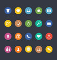 Glyphs Colored Icons 44 vector image vector image