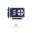 gpu icon on white background simple element from vector image vector image