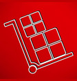 handcart icon vector image