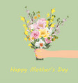 happy mothers day card template vector image