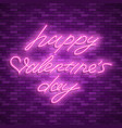 happy valentines day neon stock images vector image