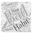 Illegal Bad Habits Word Cloud Concept vector image vector image