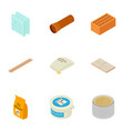 inventory icons set isometric style vector image vector image