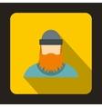 Lumberjack icon flat style vector image vector image