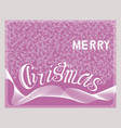 merry christmas handwritten lettering card vector image