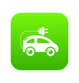 modern electric car icon green vector image