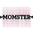 momster on white background vector image