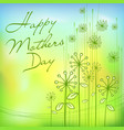 mothers day green card vector image vector image
