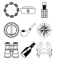 Nautical elements 4 sticker style vector image vector image