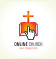 online church logo vector image